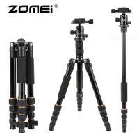 Wholesale ZOMEI Portable Professional Travel Camera Tripod Monopod with aluminum Ball Head compact for digital SLR DSLR camera
