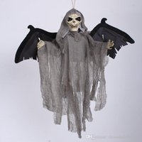animated halloween ghost - Sound Control Creepy Scary Animated Skeleton Hanging Ghost Halloween Party Decoration