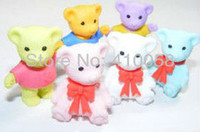 animal shaped erasers - Cute Animal Shaped Eraser Teddy Bear for Dsicount Stationery Collection Price