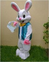 Wholesale Professional Easter Bunny Mascot Costume Bugs Rabbit Hare Adult Fancy Dress Catoon Suit