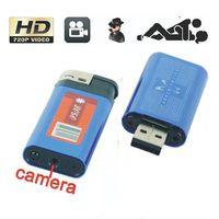 Wholesale Mini HD DV USB Q8 Aluminium Alloy Lighter Camera Video Recorder Camcorder DVR Spy Cam Hidden Cameras