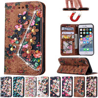 apple carvings - For iphone plus Wallet Case PU Leather Vintage Carving Flower Flip Stand Leather Diamond Case For iphone s s plus