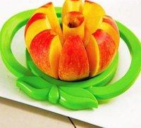 Wholesale Apple cutter knife Corer Slicer Divider Fruit Knife For Apple Pear Stainless Healthy Safe ABS Kitchen Dining Bar tools random color gift