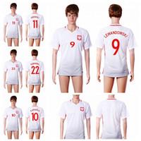 Wholesale Lewandowski Poland Home Soccer Jersey Euro Cup Soccer Jerseys Cheap Soccer Jersey Thailand Quality Custom Soccer Jersey