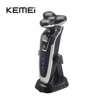 Wholesale 4 In KEMEI Electric Shaver Triple Blade Electric Shaving Razors Men Face Care D Floating Washable Rechargeable with Brush Head