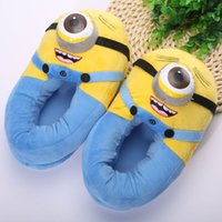 Wholesale Minion Toys Plush Slippers High Quality Despicable Me Minions Shoes Kids Home Slippers quot ANSE053