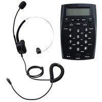 Wholesale Call Center Dialpad Headset Telephone with Tone Dial Key Pad Pc Recording Function Headset speaker volume control by knob