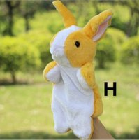 Wholesale New Plush toys hand puppets cute little rabbit cm plush dolls Factory directly