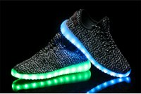 Wholesale Fashionable LED shoes top quality led shoes for men women coconut pattern unisex led sneakers USB charge LED shoes