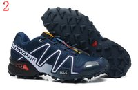 athletic eco sneakers - Brand Outlet UK Salomon Speedcross CS Trail Running Shoes Mens Lightweight Sneakers Navy zQ744 Zapatos Waterproof Athletic Shoes Size
