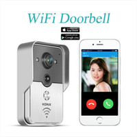 Wholesale 2015 Popular WiFi Wireless Video Door Phone intercom Doorbell Peehole Camera PIR IR Night Vision Alarm Android IOS Smart Home