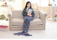 bag lady costume - 1 x0 m Fashion women Fleece Mermaid Tail Blanket Girls kIds Sleeping Bag Dress Costumes shark tail blanket for lady