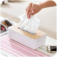 Wholesale Creative hit the color texture of tissue boxes paper towel oak fashion tissue pumping storage box