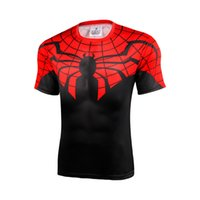 armour hero - Marvel Super Hero Captain America Batman T shirt Men Armour Base Layer Short Sleeve Thermal Under Top Sport Fitness tshirt homme