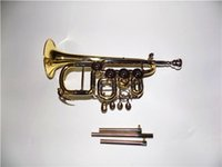 Wholesale Rotary Trumpet with Extra leadpipe included Foambody case and mouthpiece Brass wind Musical instrument