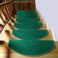 Wholesale Good Quality pc Stair Treads Tappeti Slip Resistant Thickening Rugs for Stairs Home Decor Floor Mats Doormat Staircase Carpets JI0103