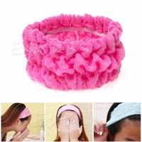 Wholesale pc Soft Elastic Headband Bath Spa Make Up Shower Hair Band Headwrap Holder New