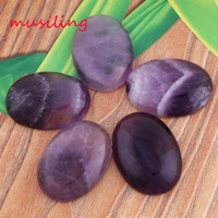 Wholesale 22x30mm Amethyst Rose Quartz etc Natural Stone Oval Beads Cabochon Bead Jewelry Findings Accessories Diy Jewelry Making
