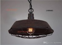 antiques works - North Europe style loft2 warehouse creative restaurant bar vintage American country wrought iron pendant light antique iron pendant lamp