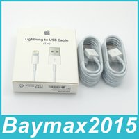Wholesale 1M Ft MFi Pin Pin Lightning to USB Cable Sync Data Cords Charger Line with Retail BOX for iPhone s s SE s Plus iPad iOS