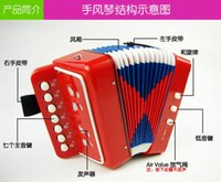 accordion diatonic - Mini accordion Children Enlightenment early childhood educational toys birthday gift instrument regional shipping send strap