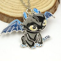 animated training - Free Delivery D Animated Cartoon How To Train Your Dragon Black Enamel Pendant Cool Cute Necklace