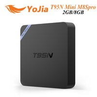 achat en gros de tv internet-T95N Mini M8Spro Android 6.0 TV Box 4K Internet Streaming TV S905X Quad core 2gb 8gb