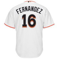Wholesale Miami Marlins Jose Fernandez Majestic Baseball Jerseys White Home Cool Base Player Jersey Men s Baseball Wears Highest Qulity