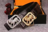 to make money - Luxury genuine leather belt for men with Chinese Zodiac use crocodile skin cowskin to make with money pattern buckcle stand wear and tear