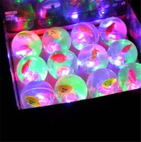 Wholesale 5 cm Round Led Flash bouncing ball Ball Lamps Balloon Lights for Paper Lantern White Or Multicolor Led toys children outdoor toys