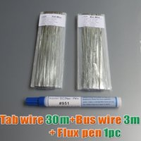 battery solder tabs - Batteries Solar Cells Solar Panel M Tab wire M Bus wire PV Ribbon Tabbing wire pc Kester ml Soldering Rosin