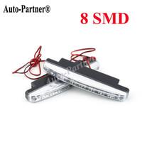 Wholesale 2Pcs Universal Car Daytime Running Lights LED DRL Daylight Kit Super White V DC Head Lamp light hot selling