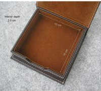 Precio de Organizadores de papel de escritorio-Papel de nota ocasional etiquetas de la caja del sostenedor con tapa de la caja del organizador del escritorio de oficina organización de papelería de escritorio marrón 312B