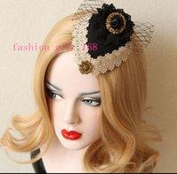 Wholesale high quality original design British style personality hair clips Black homburg aristocratic Retro ladies hair clip accessories headwear