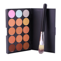 Wholesale New Colors Contour Face Cream Makeup Party Concealer Palette Brush Hot