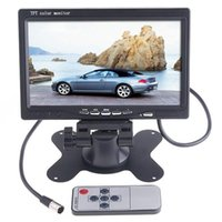 Wholesale 7 quot TFT Color LCD Video Input Car RearView Headrest Monitor DVD VCR