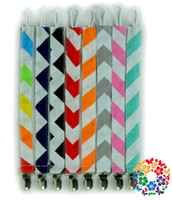 Wholesale High quality New style Baby Cotton Pacifier Clips Printed Pacifier Clips Solid color Printed Owl Anima Cartoon dot Zigzag Pacifier Clips