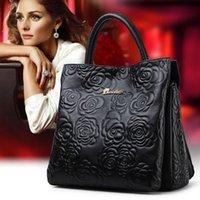 Wholesale 100 genuine leather bag embossed Tote famous brands bolsas women leather Handbags designer High quality shoulder messenger bags