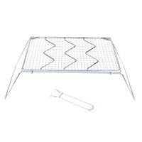 barbecue grill netting - Party Supplies Detachable Folding Stainless Steel BBQ Grills Outdoor Traveling Camping BBQ Grills Wire Mesh Barbecue Grill Net DHL Y1191
