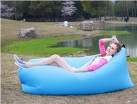 Wholesale Portable Lazy Inflatable Sofa OutdoorCamping Travel Beach Sleeping Lazy Bag Chair Air Bed