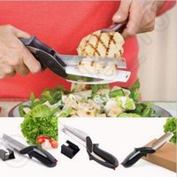 Wholesale Creative Safety Home Kitchen Trendy Clever Cutter in Knife Cutting Board Scissors Clever Cutter CCA4950