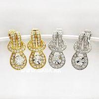 Bijoux de mode pour femme Corée du Sud accessoires de style gros Obi boucle de ceinture boucles d-oreilles jabesh forme A16
