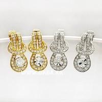 belt buckle earrings - Fashion jewelry for woman South Korea style accessories Obi belt buckle shape jabesh drop earrings A16