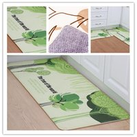 Wholesale 40 cm and x80cm Polyester Fiber Home Textiles Ellipse Carpet Water Uptake Home Office Hotels Antiskid Rug