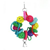 Wholesale Parrot Chew Bites Swing Toys For Small To Large Parakeet Cockatiel Budgie