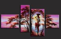 beauty picture framing - Handpainted Home Decoration Modern Abstract Sunset Beauty Oil Painting On Canvas Living Room Wall Pictures