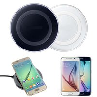 Wholesale Universal Qi Wireless Charger Round Pad not fast Charging For Samsung Note Galaxy S6 S7 Edge USB Cable with logo