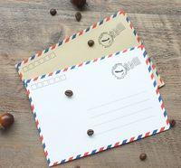 Wholesale Vintage Paper Envelopes Kraft Airmail Envelopes for Postcard Letter Greeting Paper Storage Stationery Envelope Set