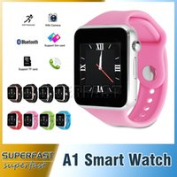 Wholesale Smartwatch A1 Smart Watch Bluetooth Smart Watch Waterproof Smart Watch For Iphone Android Cell phone inch SIM Card DHL