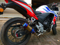 Wholesale Modification of the exhaust flame cbr500 motorcycle exhaust pipe can exhaust over Scorpio lace fry Street